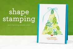 Shape Stamping Video by Jennifer McGuire Ink  This could easily be adapted to other shapes and themes.