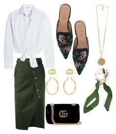 Untitled #26 by theaclemetsen on Polyvore featuring polyvore, fashion, style, Maje, self-portrait, Alberta Ferretti, Gucci, Givenchy, Isabel Marant and clothing