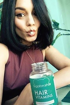 The amazing Vanessa Hudgens takes SugarBear hair vitamins to strengthen and bring shine to her natural hair. @vanessahudgens <3