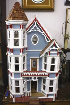 Wooden Victorian Dollhouse