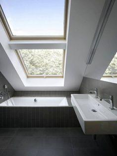 GroB Tolles Kleines Bad Einrichten   Großes Fenster