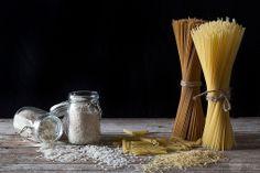 still-life de ingredientes,pasta y arroz