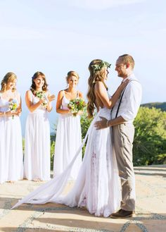Browse stunning real weddings now. Grace Loves Lace artfully crafts wedding gown designs using the finest European laces & silks for a new generation of bride. Wedding Goals, Boho Wedding, Wedding Day, Marchesa, Lilly Pulitzer, Grace Loves Lace, Bridesmaid Dresses, Wedding Dresses, Zuhair Murad