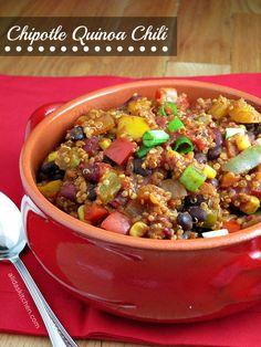 Chipotle Quinoa Chili   alidaskitchen.com #WeekdaySupper