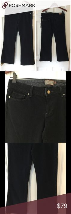 "Paige Lower Canyon Bootcut jeans 98% cotton, 2% spandex. Machine wash and dry. Waist 16"" across. Front rise 8.5"". Inseam 28"". Brand new with tag. Retail price $189. Paige Jeans Jeans Boot Cut"