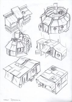::hastily built market stalls:: env obj 8 by TugoDoomER on