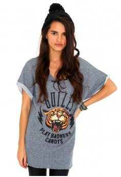 Andora Tiger Star Stud Sweatshirt- tops- missguided