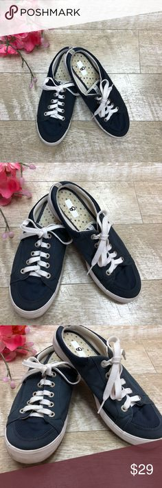 5366f11340d8f6 Navy blue Keds sneaker slides size 8 Good condition no major wear, some  small scuffing on white area Keds Shoes Sneakers