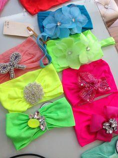 Neon colors headbands #summer #neon #girls #baby