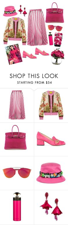 """#6"" by dyhkusumaw on Polyvore featuring Gucci, Hermès, Miu Miu, Prada, Oscar de la Renta and Kate Spade"