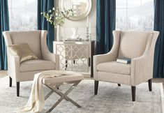 Get inspired by Glam Living Room Design photo by Room Ideas. Wayfair lets you find the designer products in the photo and get ideas from thousands of other Glam Living Room Design photos. Glam Living Room, Design Living Room, Living Room On A Budget, Formal Living Rooms, Living Room Chairs, Living Room Furniture, Living Room Decor, Modern Living, Small Living