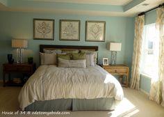 oard and batten headboard ideas | Bright and happy master bedroom.