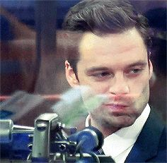 """Really, really. I'm such a dork. I just pretend to be cool."" - Sebastian Stan // Oh, we know it Seb, we know ~"