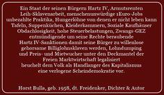 Verlogene Scheindemokratie -2- Zitat von Horst Bulla - Gesellschaftskritische Zitate / Politik - Zitate / Quotes