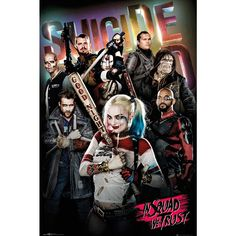 "Poster verticale ""In Squad We Trust"" di #SuicideSquad. Dimensioni: 61 x 91,5 cm."