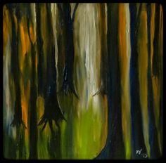 ART Valonen, taideblogi artblog: Metsä, Timo Valonen, 2015, öljy, canvas 40x40