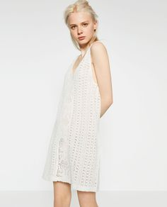 Image 1 of CROCHET STRAPPY DRESS from Zara