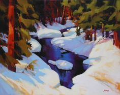 Artist: Mike Svob, Title: Winter on the Callaghan - click on image to enlarge