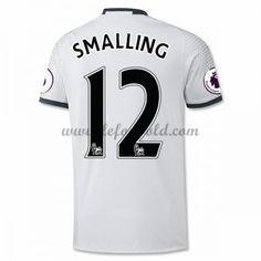 Billige Fodboldtrøjer Manchester United 2016-17 Smalling 12 Kortærmet Tredjetrøje