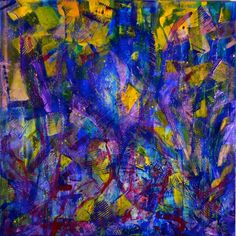 ARTFINDER: Again and again. by Nestor Toro - Detailed brush strokes combines with gestural and organic shapes. Iridescent mediums were apply creating a vibrant piece with an electric feel. Lots of purpl...