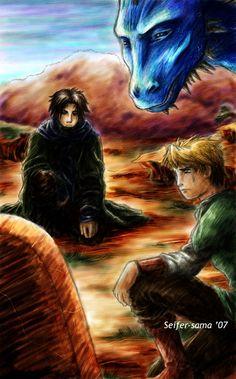 Murtagh<3, Eragon even though he's got brown hair, Saphira.