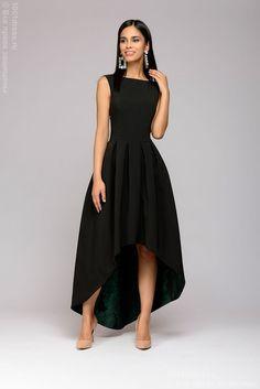 The dress black is a multi-level with a green skirt trim – Sainal Source by dress maxi Gala Dresses, Evening Dresses, Wedding Dresses, Black Gala Dress, Stylish Dresses, Fashion Dresses, Mode Outfits, Retro Dress, Buy Dress