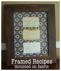 bright green door blog grandma carolines recipes displayed this is another neat way to display your ancestors recipes behind a frame