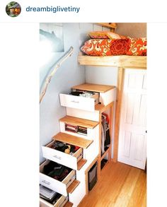 Tiny home stairs