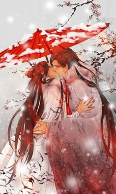 Kissing your lover as if your life depended on it has never looked more true for these two. Chinese Drawings, Anime Love Couple, Manga Love, China Art, Ancient China, Jolie Photo, Art Graphique, Animes Wallpapers, Japanese Art