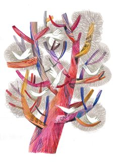 felicita sala illustration: red tree
