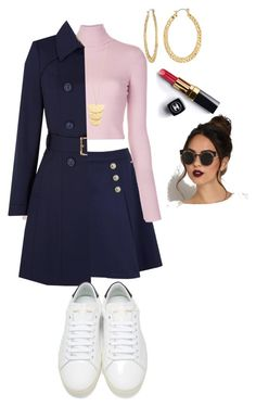 """i dont think this is the best design"" by aknight77y ❤ liked on Polyvore featuring Tommy Hilfiger, A.L.C., Yumi, Yves Saint Laurent, Gorjana, Fragments and Chanel"