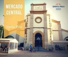 MERCADO CENTRAL. El edificio del Mercado de Abastos de SantaPola iba a ser en su origen una iglesia. Durante finales del s.XIX y principios del s.XX, diversos sucesos desafortunados impidieron su finalización y ya en los años 30 se decidió aprovechar parte de la estructura para realizar el actual edificio del Mercado.