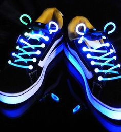 Light-up laces... Why do kids love anything that glows?