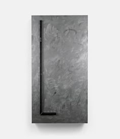 Untitled (Steel Painting #5) (2012) 47.2 x 90.5 in., Lacquer, steel and aluminum composite mirror panel