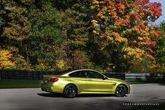 2015 BMW M4 Coupe Austin Yellow - Photoshoot - http://www.bmwblog.com/2014/11/06/2015-bmw-m4-coupe-austin-yellow-photoshoot/