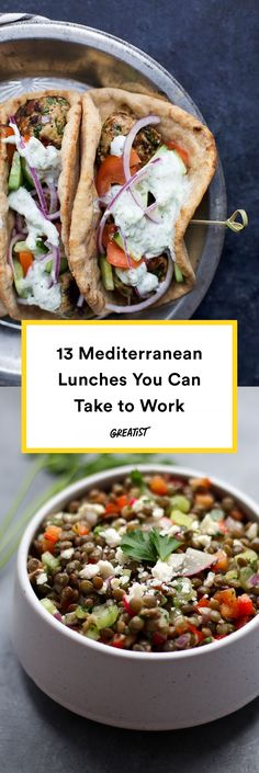 13 Mediterranean Diet Lunches That Make Meals at a Desk Way Better is part of Mediterranean diet recipes - You don't need a Greek giagiá in your life to master these healthy Mediterranean recipes They're easy to transport and even easier to mealprep Lunch Snacks, Clean Eating Snacks, Lunch Recipes, Healthy Snacks, Healthy Eating, Healthy Recipes, Dinner Healthy, Easy Recipes, Healthy Dishes
