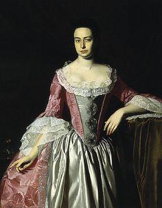1758-60 John Singleton Copley (American colonial era artist, 1738-1815) Eunice Dennie Burr