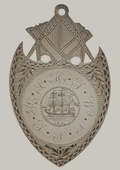 Masonic medal, 1826 C. Foote, engraver. American -  Silver