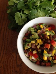 Black Bean Mexican Salad Mexican Salads, Black Eyed Peas, Black Beans, Recipes, Food, Rezepte, Essen, Recipe, Yemek