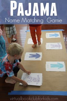 Pajama Name Matching Activity for Kids inspired by Llama Llama Red Pajama