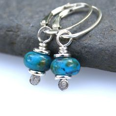 Peruvian opal sterling silver earrings £18.00