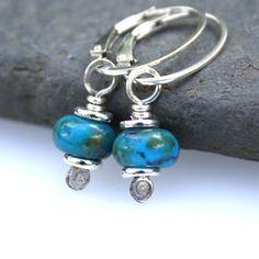 Peruvian opal sterling silver earrings £18.00