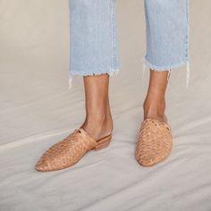 Paris Woven Mule - Tan   Slides   Leather Mules – ST. AGNI