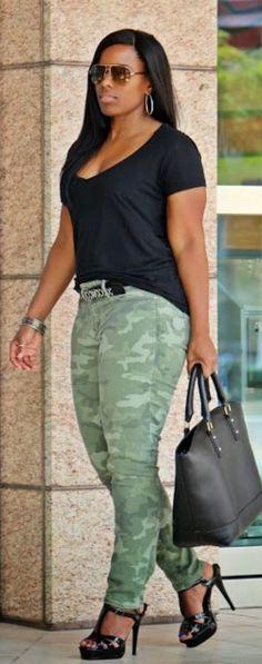 Weekend Wear: Gap Camo Jeans. Fab.