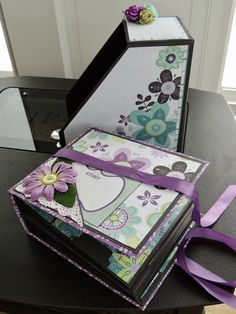 Mini Album ~ Brag book for Grandma.Using papers from Colorbok 'Fresh Linen'