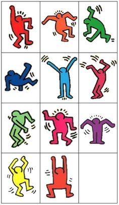 "Résultat de recherche d'images pour ""haring en maternelle"" 3rd Grade Art, Street Culture, High School Art, Middle School Art, Pop Art For Kids, Social Activist, Keith Haring Art, Keith Allen, Mondrian"