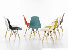 #Eames Plastic Side Chair #Vitra