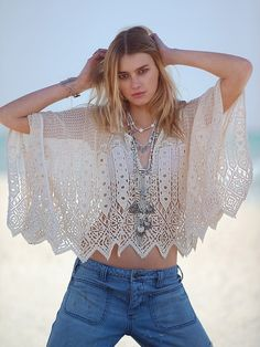 free people: jen's pirate booty. barcelona cropped poncho. #fashion