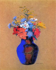 Wild Flowers in a Vase by @redonart #realism