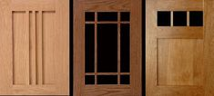 Arts & Crafts cabinet door styles reflect the patterns used in period furniture and window sashes.